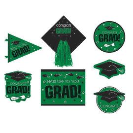 Green Graduation Deluxe Cutouts