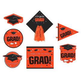 Orange Graduation Deluxe Cutouts