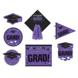 Purple Graduation Deluxe Cutouts