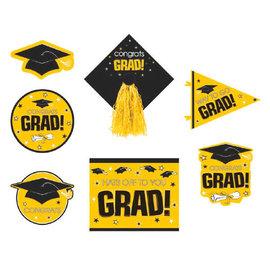 Yellow Graduation Deluxe Cutouts