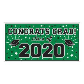 "2020 Grad Large Horizontal Banner-Green, 65"" x 33 1/2"""