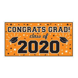 """2020 Grad Large Horizontal Banner-Orange, 65"""" x 33 1/2"""""""