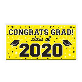 "2020 Grad Large Horizontal Banner-Yellow, 65"" x 33 1/2"""