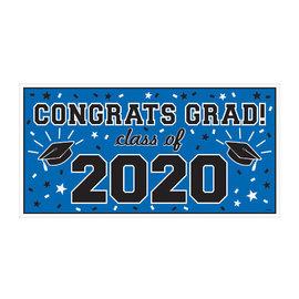 "2020 Grad Large Horizontal Banner-Blue, 65"" x 33 1/2"""