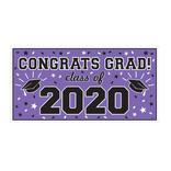 "2020 Grad Large Horizontal Banner-Purple, 65"" x 33 1/2"""