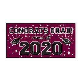 "2020 Grad Large Horizontal Banner-Berry, 65"" x 33 1/2"""