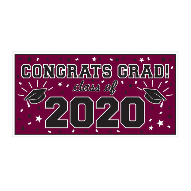 "2020 Grad Large Horizontal Banner-Berry, 65"" x 33 1/2"""