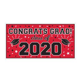 "2020 Grad Large Horizontal Banner-Red, 65"" x 33 1/2"""