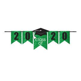 Grad Personalized Glitter Paper Letter Banner Kit - Green, 12'