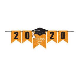 Grad Personalized Glitter Paper Letter Banner Kit - Orange, 12'