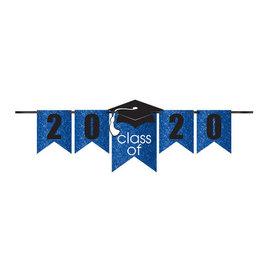 Grad Personalized Glitter Paper Letter Banner Kit - Blue, 12'