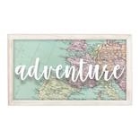 "Adventure Hanging Wood Sign, 9 1/2"" x 16 1/2"""