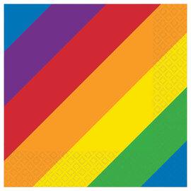 Rainbow Beverage Napkins -16ct