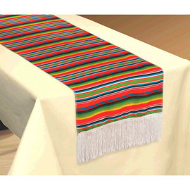 "Serape Stripe Fabric Table Runner- 14"" x 72"""