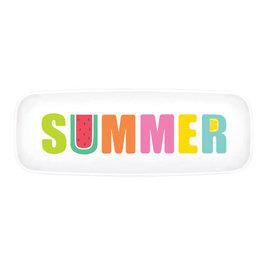 Tutti Frutti Plastic Long Platter