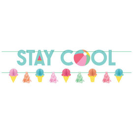 Just Chillin' Stay Cool Banner Kit -2ct