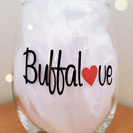 Buffalove Stemless Wine Glass
