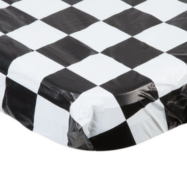 "Black & White Check Stay Put Tablecover, 29""x72"""