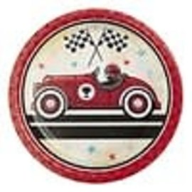"Vintage Race Car 7"" Paper Plates, 8 ct"