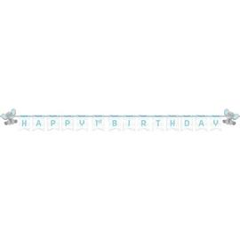 "Enchanting Elephant Boy 1st Birthday Banner, 6"" x 8'"