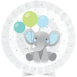 Enchanting Elephant Boy Centerpiece Paper Fan