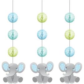 Enchanting Elephant Boy Hanging Cutouts, 3 ct