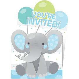 Enchanting Elephant Boy Pop-Up Invitations, 8 ct