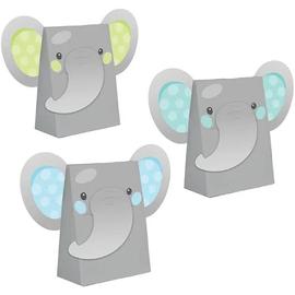 Enchanting Elephant Boy Paper Treat Bags, 8 ct