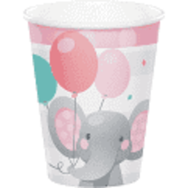 Enchanting Elephant Girl 9 oz Hot/Cold Paper Cups, 8 ct