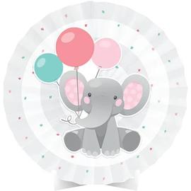 Enchanting Elephant Girl Centerpiece Paper Fan