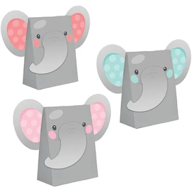 Enchanting Elephant Girl Paper Treat Bags, 8 ct
