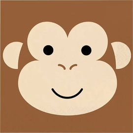 Monkey Animal Face Luncheon Napkins, 16 ct