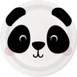 "Panda Animal Face 7"" Paper Plates, 8 ct"