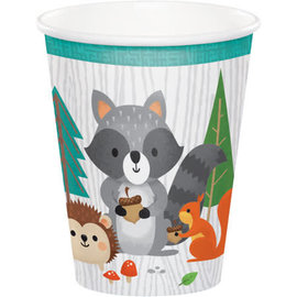 Woodland Animals 9 oz Hot/Cold Paper Cups, 8 ct