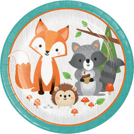 "Woodland Animals 9"" Paper Plate, 8 ct"