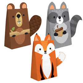 Woodland Animals Paper Treat Bags, 8 ct