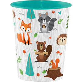 Woodland Animals Plastic Favor Cup, 16 oz