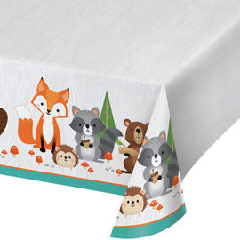 "Woodland Animals Plastic Tablecover, 52"" x 102"""
