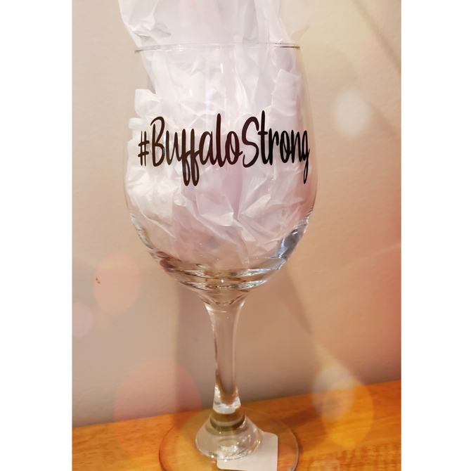 Buffalo Strong Glass