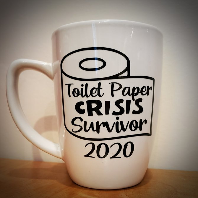 Toilet Paper Crisis Glass