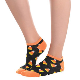 Candy Corn No Show Socks