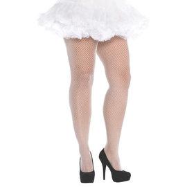 White Fishnet Stockings - Adult Plus