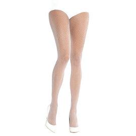 White Fishnet Stockings - Adult Standard