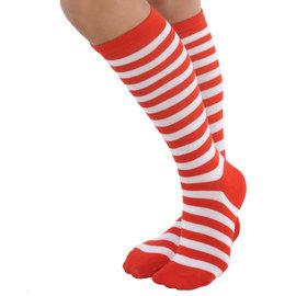 Red/White Striped Socks