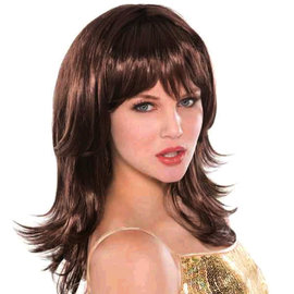 Brown Flirty Feather Shag Wig