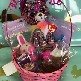 Filled Easter Basket With An Assorted TY For Girls - Great For Ages 5 & Under