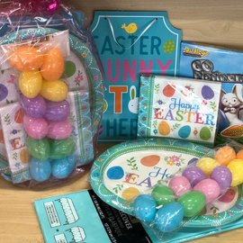 Quarantined Easter Party Kit with Oval Dinner Plates
