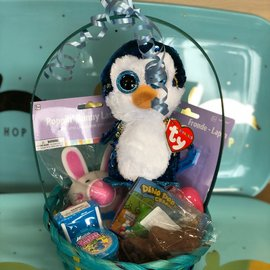 Filled Easter Basket With An Assorted TY For Boys - Great For Ages 5 & Under