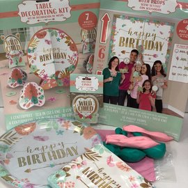 Boho Birthday Girl Family Party Kit