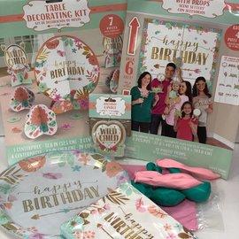 Boho Birthday Girl Quarantined Party Kit